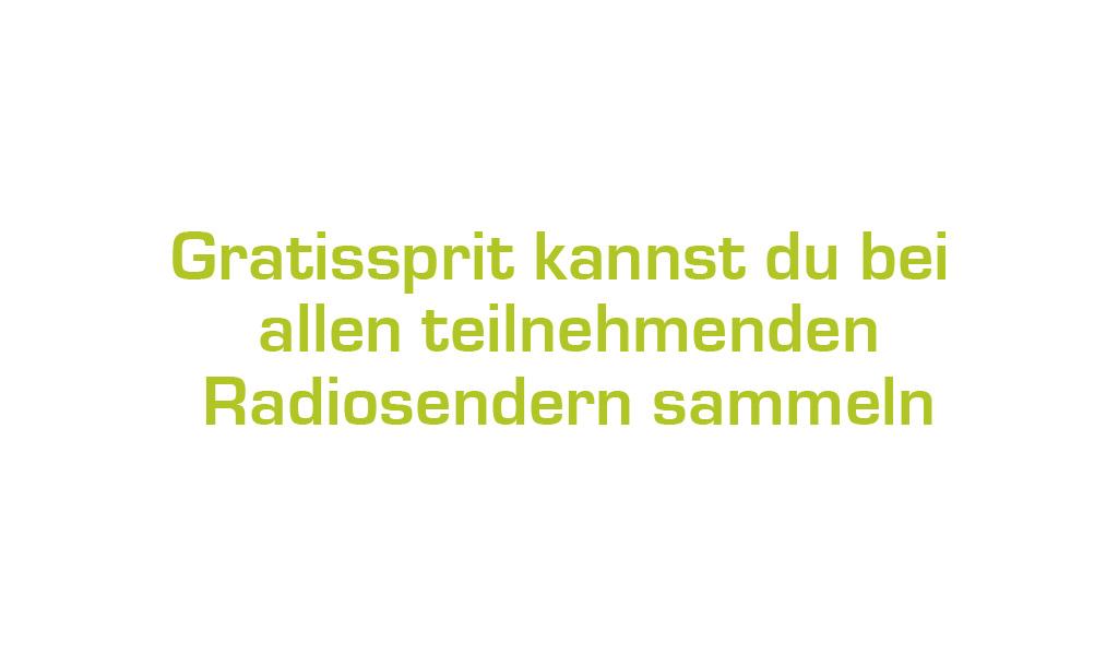 Gratissprit bei Radiosendern sammeln